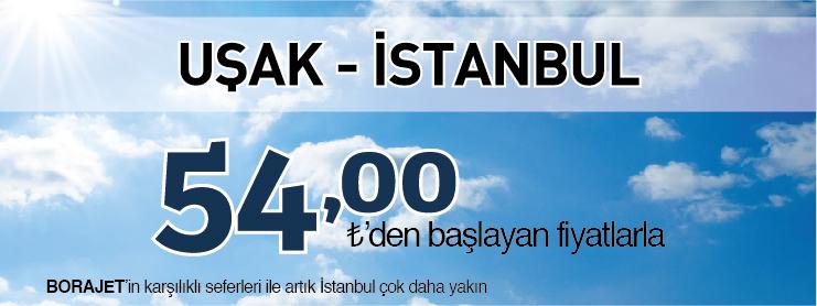 Borajet istanbul uşak uçak bileti kampanyası
