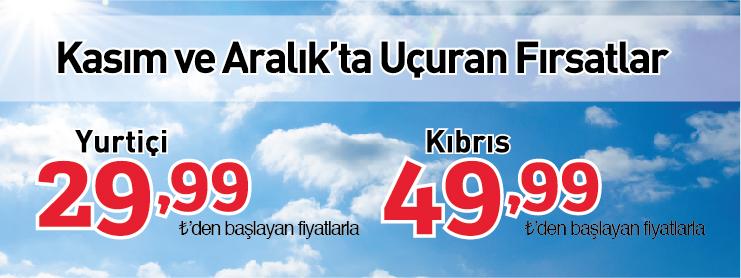 izair yurtiçi yurtdışı kıbrıs uçak bileti