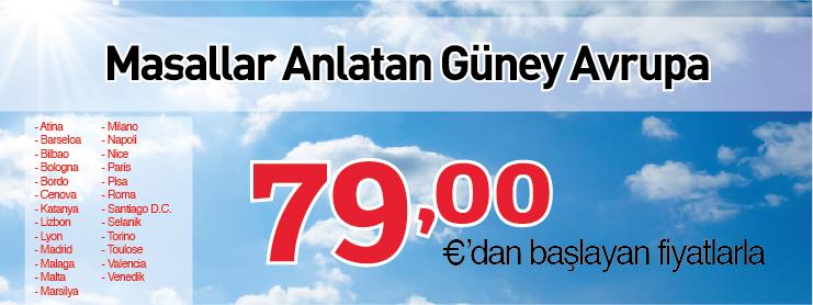 THY Güney Avrupa uçak bileti kampanyası