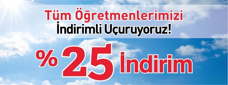 THY Anadolu Jet Öğretmenler Günü uçak bileti kampanyası
