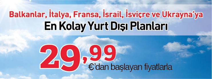 Pegasus yurtdışı uçak bileti kasım kampanyası
