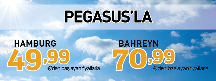 Pegasus Hamburg Bahreyn uçak bileti kampanyası
