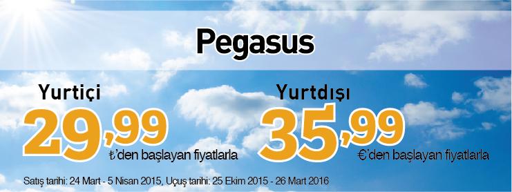 Pegasus kış uçak bileti kampanyası