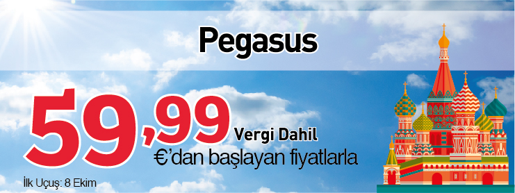 Pegasus Moskova uçak bileti kampanyası