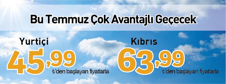 Pegasus yurtiçi ve kıbrıs uçak bileti kampanyası
