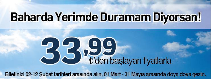 Sunexpressten bahara özel uçak bileti kampanyası