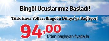 THY İstanbul Bingöl uçak bileti