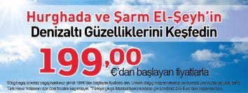 THY Hurghada Şarm El-Şeyh uçak bileti kampanyası