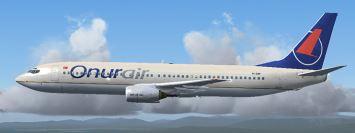 OnurAir uçağı gökyüzünde