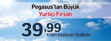 Pegasus yurtiçi uçak bileti kampanyası