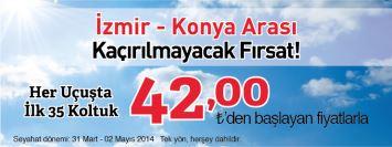 Sunexpress izmir konya uçak bileti kampanyası