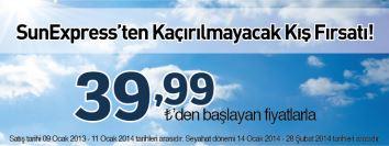 sunexpress uçak bileti kış fırsatları