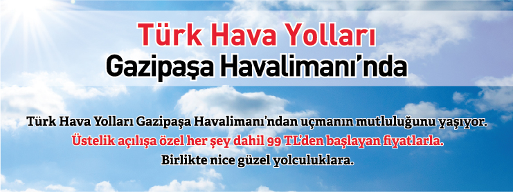 THY Gazipaşa Alanya uçak bileti kampanyası