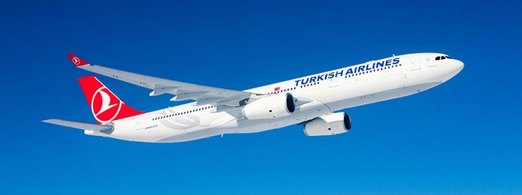 THY uçak gökyüzünde