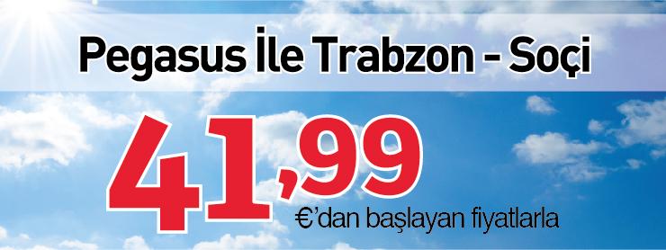 Pegasus Trabzon Soçi Uçuşları