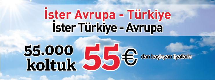 Sunexpressten Avrupa Türkiye İndirimli uçak bileti kampanyası