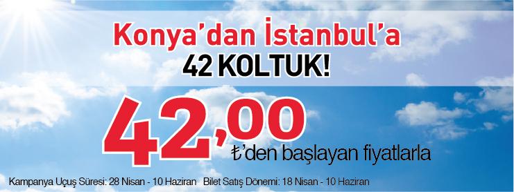 AnadoluJet İstanbul Konya Uçak Bileti Kampanyası