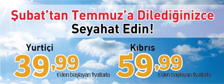 Pegasus yurtiçi kıbrıs uçak bileti kampanyası